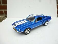 1968 FORD SHELBY MUSTANG GT 500 KR GT500 RARE BLUE / WHITE 1:18 ROAD S  NO Box !