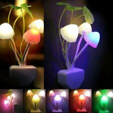 New US Plug Sensor Mushroom Night Light LED Lamp Romantic Colorful Home Decor