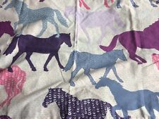 Girls Pink Horse Single Duvet Cover & Pillow Case Set
