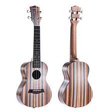 """ammoon 24"""" Acoustic Wooden Soprano Ukulele Ukelele Uke Okoume Neck K2T6"""