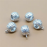 6 Sterling Silver Cross Bail Bead Charms Large Hole for European Bracelet