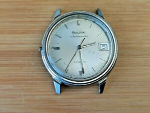 Vintage Bulova Ambassador M9 Mens 17 Jewels 12EBACD Micro Rotor Watch for Repair