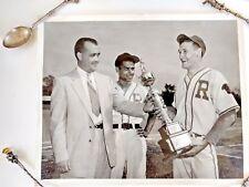 Coca-Cola 1955 Glossy Photo Original 8 x 10 Rutland VT Baseball Champs Trophy