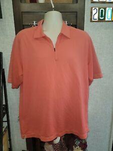 NIKE dry-fit SZ L short Sleeve T-Shirt Athletic PERFORMANCE GOLF polo melon