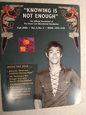 """""""KNOWING IS NOT ENOUGH"""" Bruce Lee Newsletter - Fall 2000 - Vol.4, No.3"""