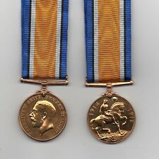 BRITISH  WAR MEDAL 1914-18  BRONZE ISSUE A SUPERB QUALITY FULL-SIZE REPLICA