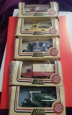 5  Boxed Car Models Of Days Gone By Lledo Upto 1987