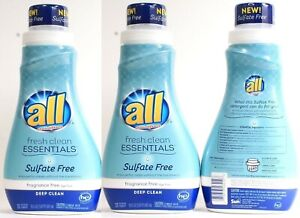 (3) All Fresh Clean Essentials Sulfate Fragrance Dye Free Deep Clean Detergent