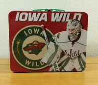 IOWA WILD Minnesota Wild Minor League Hockey Team SGA Lightweight Metal Lunchbox