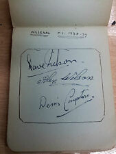 Original Autographs of football Team: ARSENAL. 1938-1939