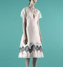 VIKA GAZINSKAYA $2,880 tree print sheer mesh a-line layering dress 36-FR/4 NEW