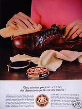 PUBLICITÉ 1967 CIRAGE KIWI CINQ MINUTES PAR JOUR - GALINDEZ - ADVERTISING
