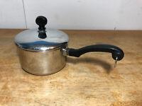 Farberware Aluminum Clad Stainless Steel 1 Quart Saucepan Pot W/Lid