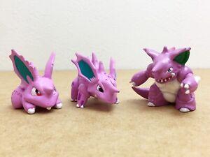 Pokemon TOMY Monster Collection Nidoran Nidorino Nidoking Figure Set of 3