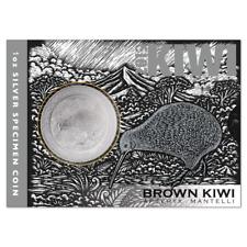 New Zealand -2019- Silver $1 Specimen Coin- 1 OZ Brown Kiwi Coin