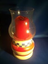 """Partylite Patriotic Americana Red White Blue 2"""" Candle Holder"""