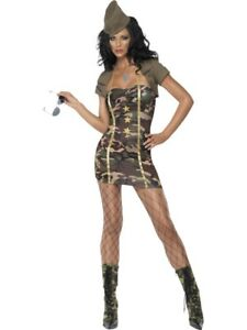 Major Trouble Ladies Sexy Army Cadet Dress Up Fancy Dress Costume Party