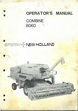 New Holland Combine 8060 Operators Manual - ORIGINAL MANUAL