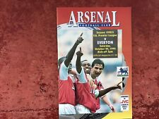 Arsenal v Everton 24 October 1992 Mint Condition Post Free
