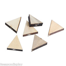 30PCs Natural Colour Triangle Shape Wood Beads Wooden Beads 20x19mm