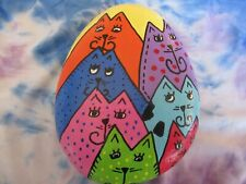 Hand Painted River Rocks Art Colorful Cats Kittens New #2