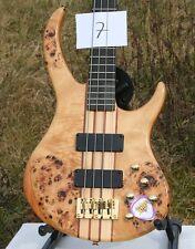 WELLER 4-saiter attivamente e Bass Poplar MOGANO NECK THRU sogno bella legni nr 07