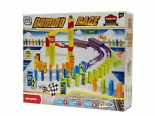 Domino Rally Race 59 Piece Build & Knock Down Dominoes & Marble Game Set R050050