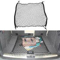 Car Trunk Interior Organizer Bag Rear Seat Storage Mesh Cargo Net Holder Black
