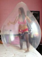 "6x 48"" Riesenballons CLEAR, superweich-mächtig, Spiel-Party-Spass-Looner"