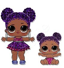Iron on Transfer LOL SURPRISE DOLL  dolls PURPLE QUEEN GLITTER SERIES 14x13cm