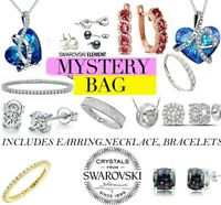 10 Pieces Jewelry Mystery Bag RETAIL VALUE $399.00 Made with Swarovski Crystals