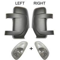 RENAULT MASTER WING MIRROR COVER, LEFT&RIGHT SIDE, 2010 to 2018 (INDICATOR BLACK
