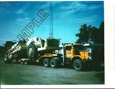 1965 AUTOCAR DC95 & NELSON Lowboy w/EUCLID S-24 Scraper 8x10 COLOR Photo