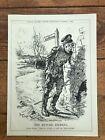 "1916 cartoon print "" the return journey ""  verdun !"