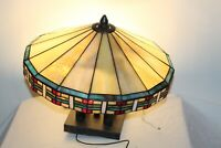 Slag Glass Shade Ceiling Light Fixture Multi Color Arts & Crafts Style