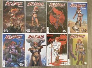 Red Sonja # 1 2 3 4 Cvr A & B 8 Comic Book Lot NM