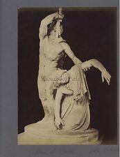 Sculpture gréco-romaine Arria & Paetus Grèce Italie 2 Photos Vintage ca 1880