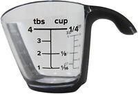 Plastic Measuring Cup 1/4 Capacity Measuring Cups with Handle Grip & Spout Ml Oz