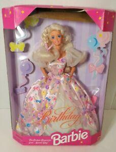 NEW 1996 Birthday Barbie Blonde Doll & Pink Dress Special Day Mattel #15998