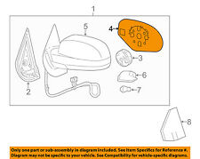 GM OEM Outside Mirrors-Front Door-Mirror Glass Left 25829662