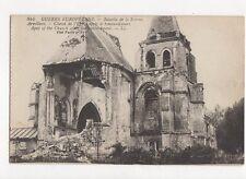 Bataille de la Somme Arvilliers Cheve de l'Eglise Vintage LL Postcard 160a
