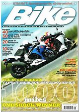 Bike May 2009 KTM SMT RC8 R1 ZX-10R GSX-R1000 Fireblade 30 years of race replica