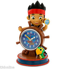 Jake and the Never Land Pirates Scully Parrot Pirate Clock Genuine Disney New