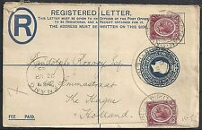 Straits Settlements 1925 uprated Registered Letter BUKIT MERTAJAM