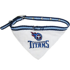 TENNESSEE TITANS PET DOG NFL FOOTBALL COLLAR with BANDANA Size S