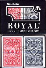 4 Decks 100% PLASTIC Casino Royal Jumbo Index Narrow POKER Playing Cards NEW 4 *