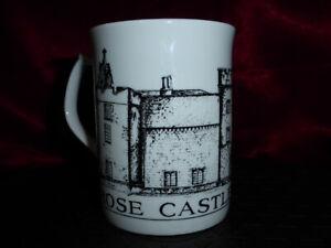 ROSE CASTLE, CUMBRIA White Ceramic Bone China Mug by McLaggan Smith