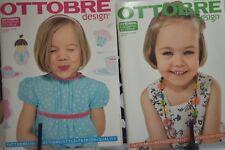 Ottobre Design Magazine Lot of 2 Spring & Summer 2008 Children's Sewing Patterns