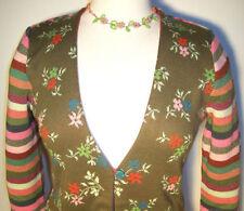Damen-Pullover mit mittlerer Strickart und Knöpfen L
