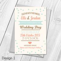 Premium Personalised Wedding Day or Evening Invitations Invites & Envelopes